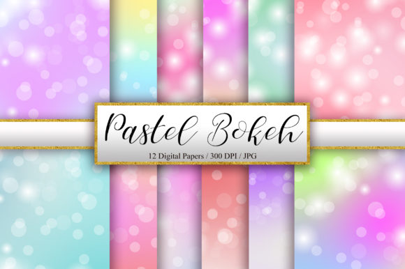 Download Free Pastel Bokeh Background Digital Papers Graphic By Pinkpearly Creative Fabrica for Cricut Explore, Silhouette and other cutting machines.
