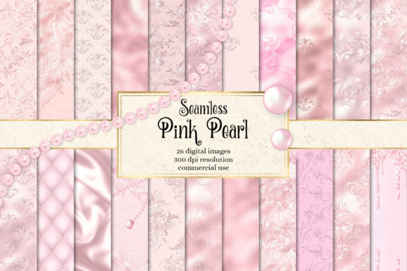 Print on Demand: Pink Pearl Digital Paper Graphic Textures By Digital Curio