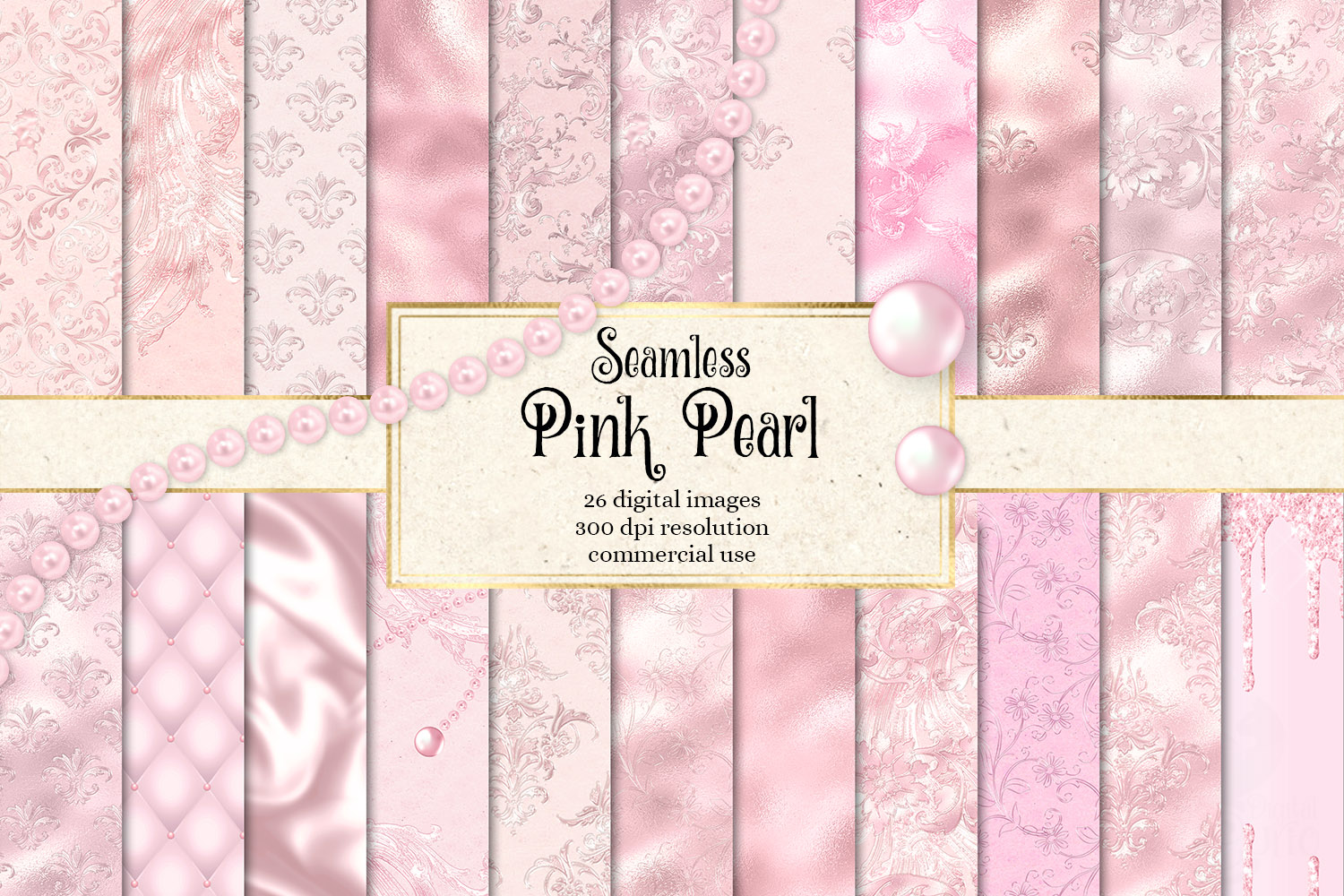 Download Free Pink Pearl Digital Paper Graphic By Digital Curio Creative Fabrica for Cricut Explore, Silhouette and other cutting machines.