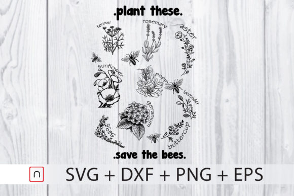 Print on Demand: Plant These Save the Bees Beekeeper Graphic Print Templates By Novalia