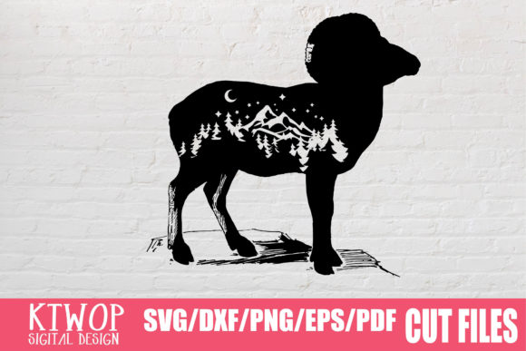 Download Free Ram Goat 2020 Graphic By Ktwop Creative Fabrica for Cricut Explore, Silhouette and other cutting machines.