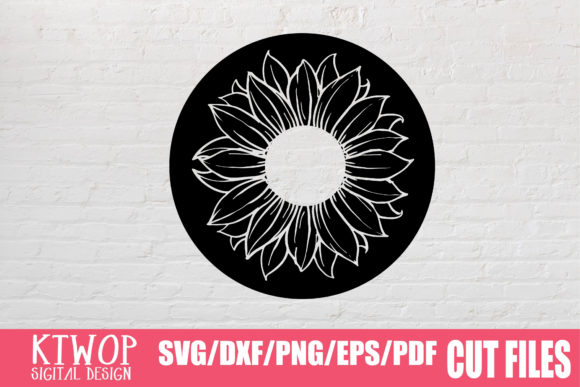 Print on Demand: Sunflower Circle Graphic Crafts By KtwoP