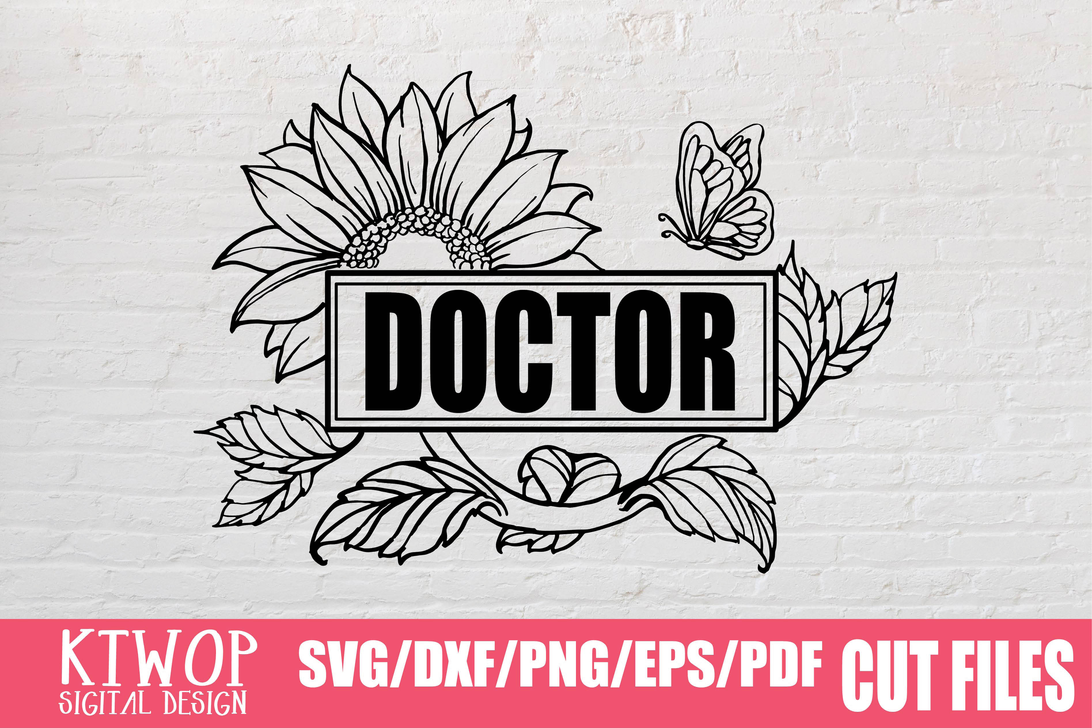 Download Free Sunflower Doctor 2020 Graphic By Mr Pagman Creative Fabrica for Cricut Explore, Silhouette and other cutting machines.