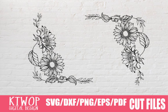 Download Free 51 Half Sunflower Svg Designs Graphics for Cricut Explore, Silhouette and other cutting machines.