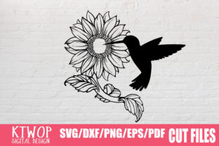Download Free Sunflower Humming Bird 2020 Graphic By Ktwop Creative Fabrica for Cricut Explore, Silhouette and other cutting machines.