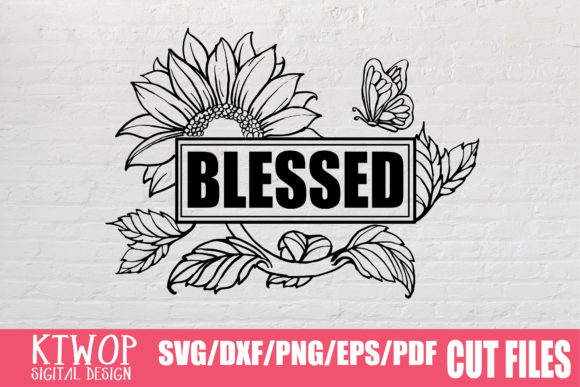 Download Free Sunflower Jesus Blessed 2020 Graphic By Ktwop Creative Fabrica for Cricut Explore, Silhouette and other cutting machines.