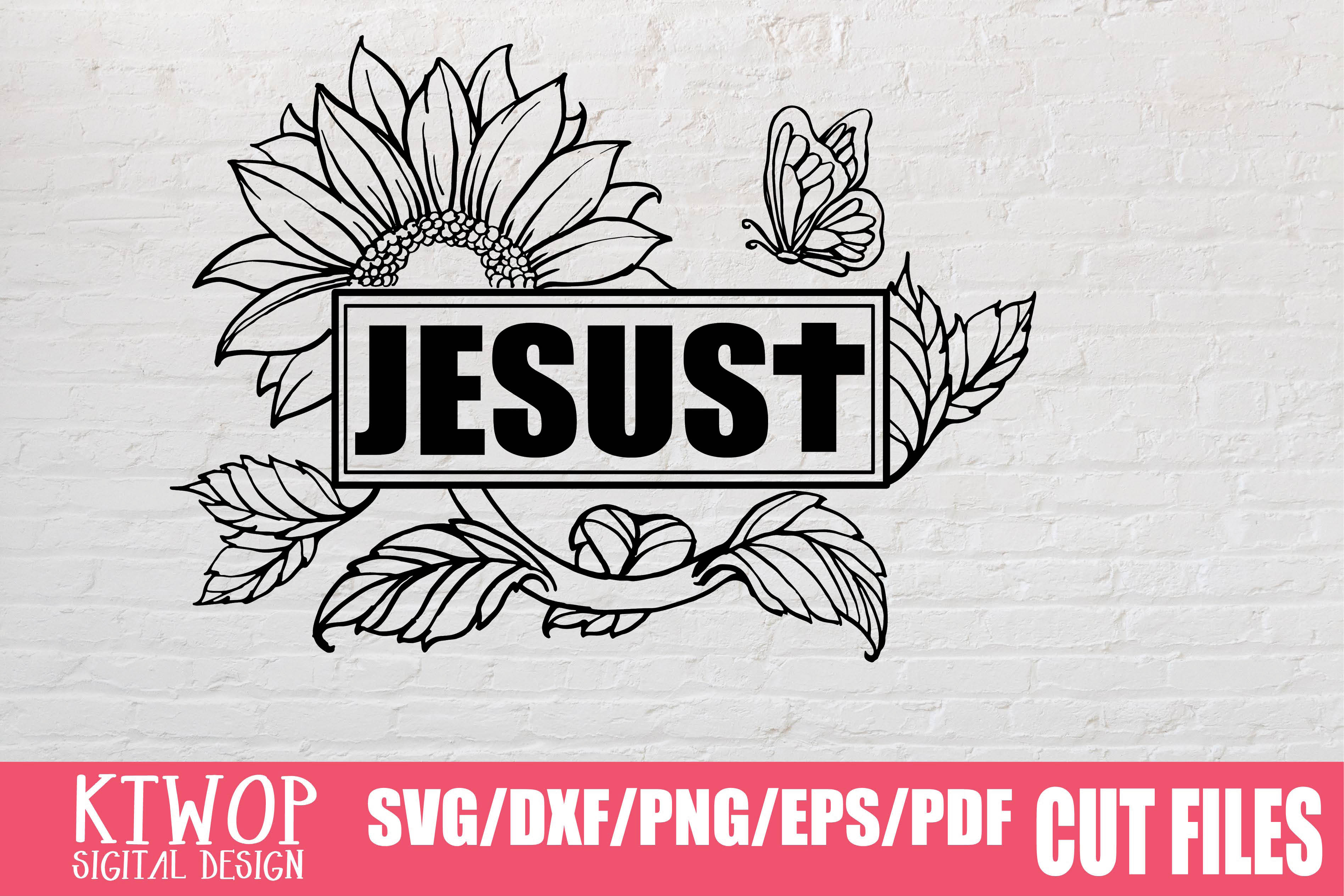 Download Free Sunflower Jesus 2020 Graphic By Ktwop Creative Fabrica for Cricut Explore, Silhouette and other cutting machines.
