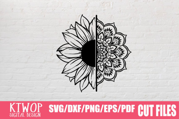 Download Free Sunflower Mandala 2020 Graphic By Ktwop Creative Fabrica SVG Cut Files