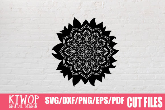 Download Free Sunflower Mandala 2020 Graphic By Ktwop Creative Fabrica for Cricut Explore, Silhouette and other cutting machines.
