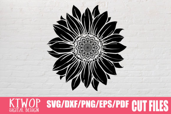 Download Free Sunflower Mandala Monogram 2020 Graphic By Ktwop Creative Fabrica for Cricut Explore, Silhouette and other cutting machines.