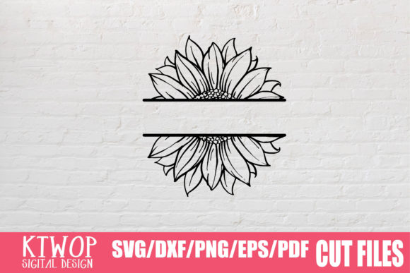 Download Free Sunflower Monogram Graphic By Mr Pagman Creative Fabrica for Cricut Explore, Silhouette and other cutting machines.