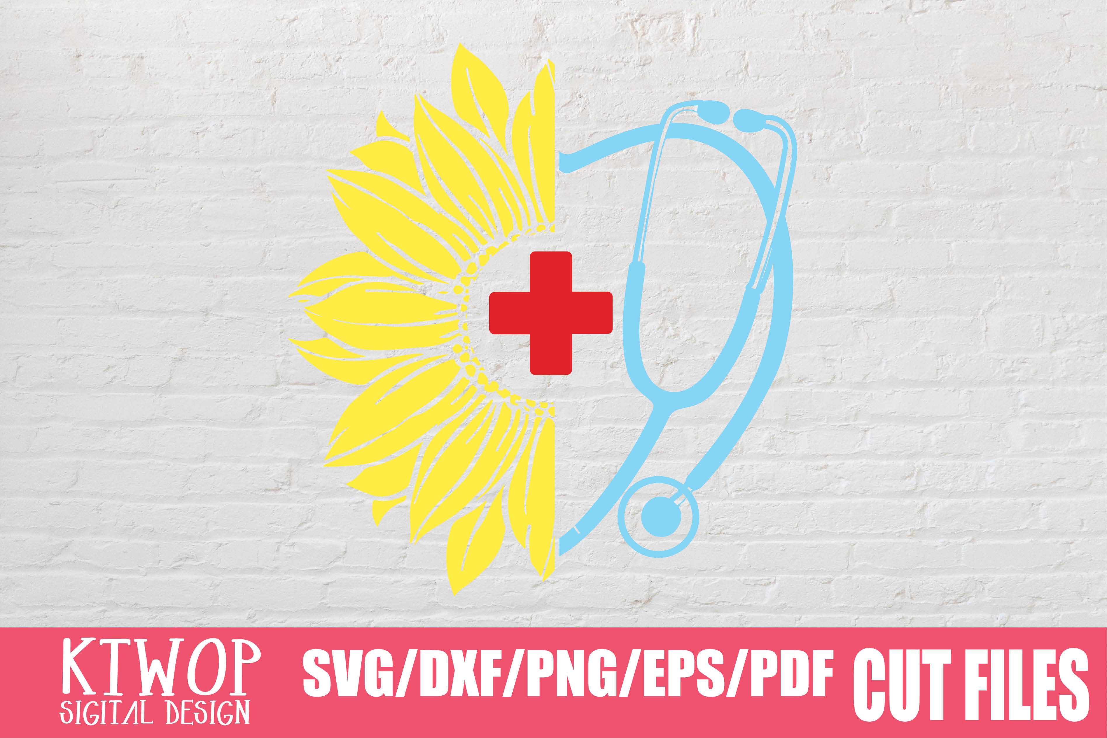 Download Free Sunflower Stethoscope Nurse Doctor 2020 Graphic By Ktwop for Cricut Explore, Silhouette and other cutting machines.