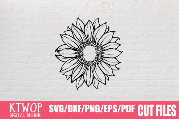 Download Free Sunflower Monogram Graphic By Ktwop Creative Fabrica for Cricut Explore, Silhouette and other cutting machines.