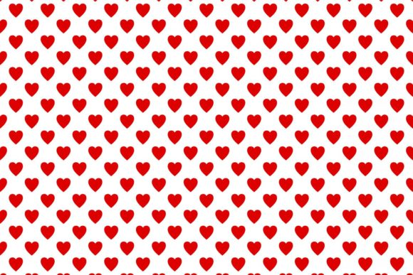 Download Free Seamless Red Heart Pattern Graphic By Davidzydd Creative Fabrica for Cricut Explore, Silhouette and other cutting machines.