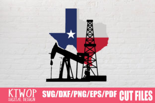 Download Free Texas Oilfield Flag Graphic By Ktwop Creative Fabrica for Cricut Explore, Silhouette and other cutting machines.
