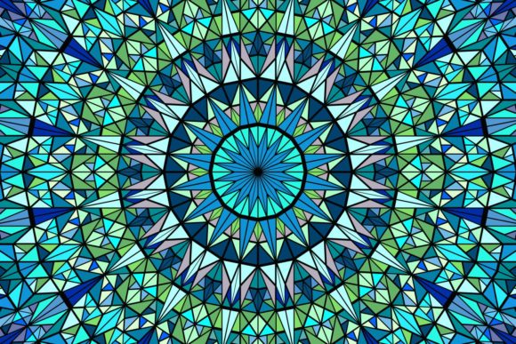 Download Free 2 Multicolored Mandala Designs Graphics for Cricut Explore, Silhouette and other cutting machines.