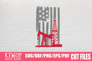 Print on Demand: USA Oilfield Flag 2020 Graphic Crafts By KtwoP