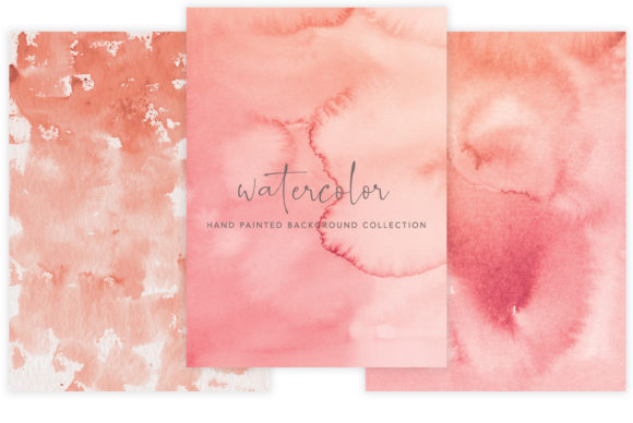 Watercolor Background Set  Graphic Textures By Patishop Art