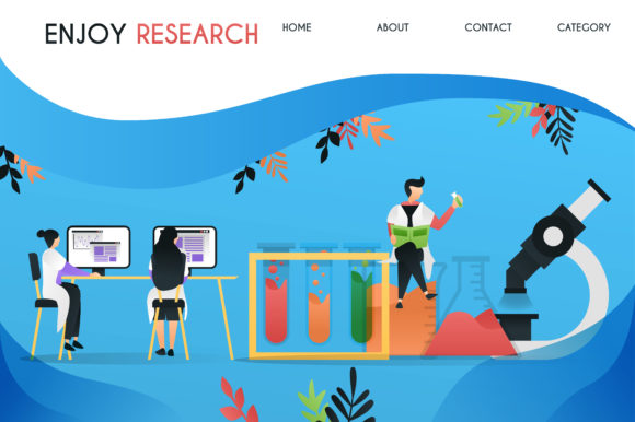 Download Free Banner Of Scientist In Laboratory Graphic By Setiawanarief111 for Cricut Explore, Silhouette and other cutting machines.
