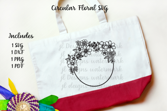 Print on Demand: Circle Floral Graphic Crafts By JL Designs