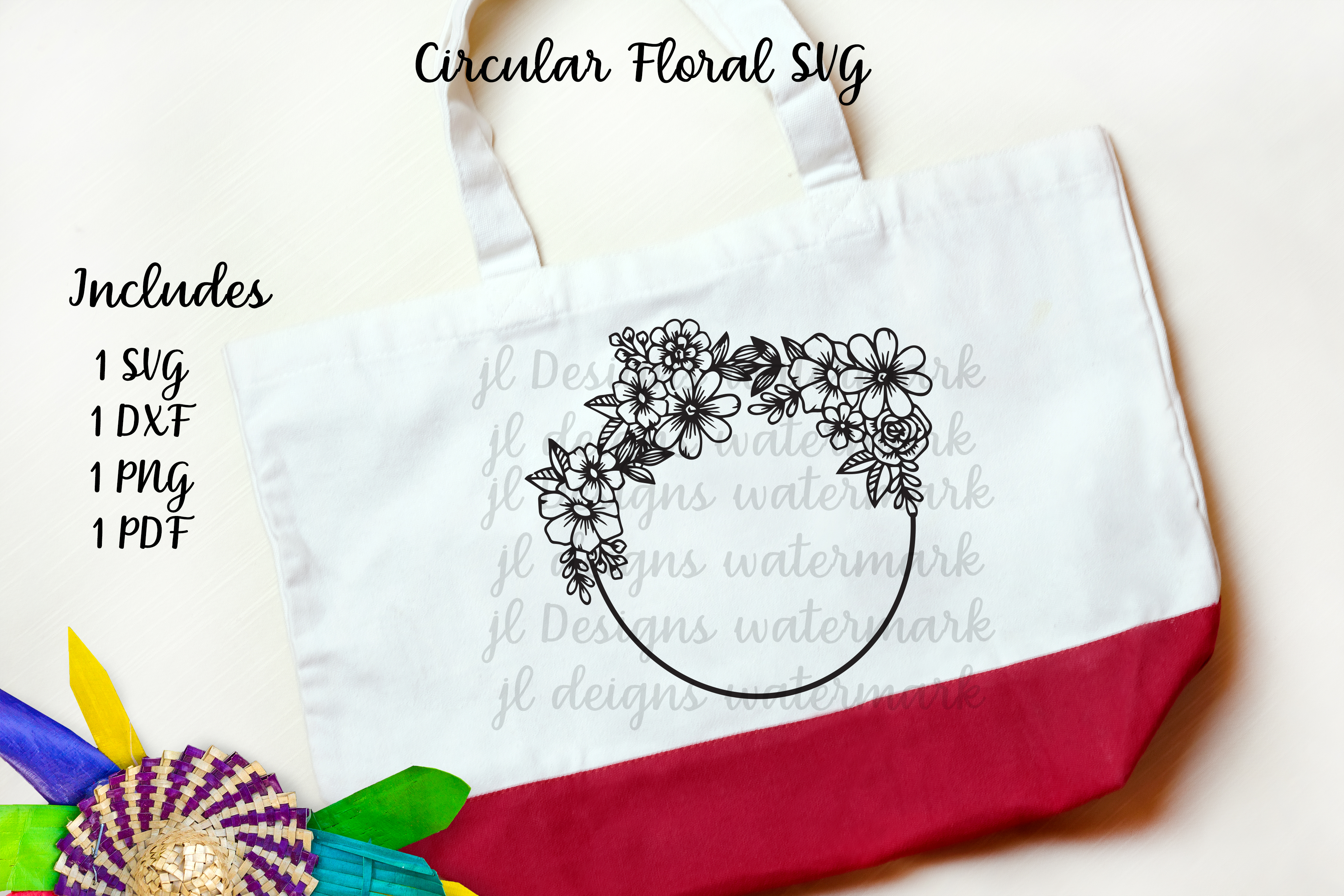 Download Free Circle Floral Graphic By Jl Designs Creative Fabrica for Cricut Explore, Silhouette and other cutting machines.