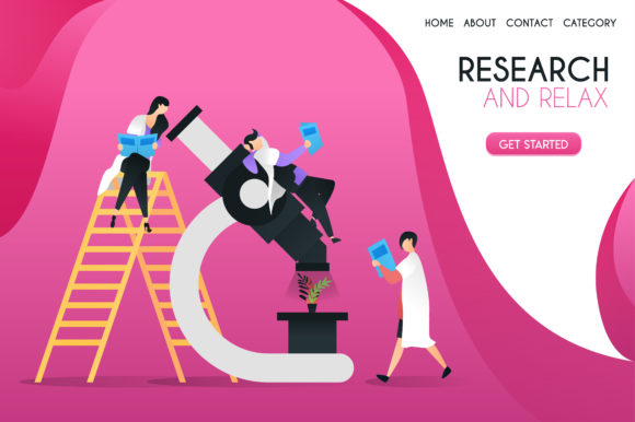 Download Free Illustration Of Scientists Researching Graphic By for Cricut Explore, Silhouette and other cutting machines.