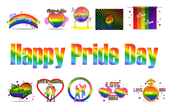 Print on Demand: Pride Day Cute Element Bundle Graphic Illustrations By iop_micro