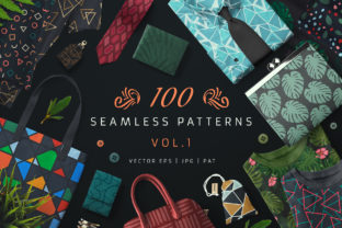 100 Seamless Patterns Vol.1 Graphic Patterns By pixaroma