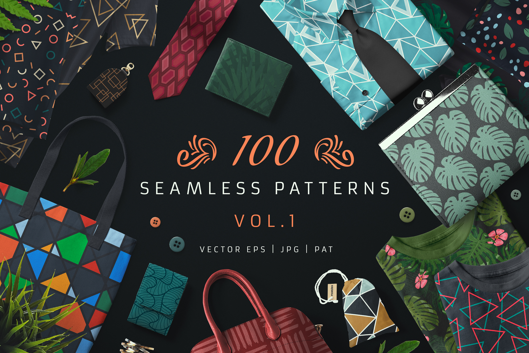 Download Free 100 Seamless Patterns Vol 1 Graphic By Pixaroma Creative Fabrica for Cricut Explore, Silhouette and other cutting machines.