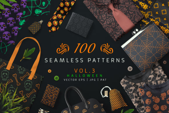 100 Seamless Patterns Vol.3 Graphic Patterns By pixaroma