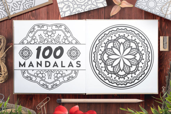 Download Free 100 Vector Mandala Ornaments Graphic By Pixaroma Creative Fabrica for Cricut Explore, Silhouette and other cutting machines.