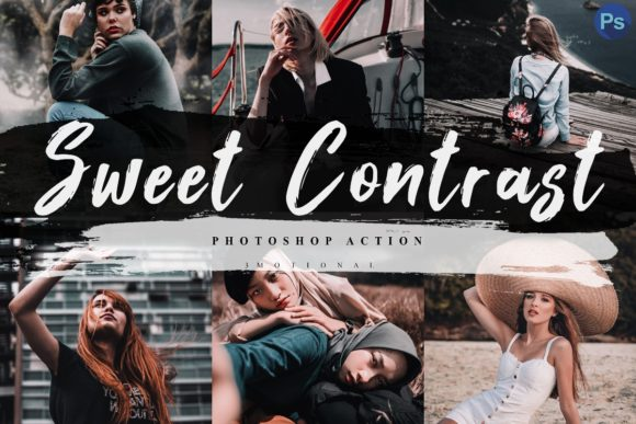 Download Free 5 Sweet Contrast Photoshop Actions Acr Graphic By 3motional for Cricut Explore, Silhouette and other cutting machines.