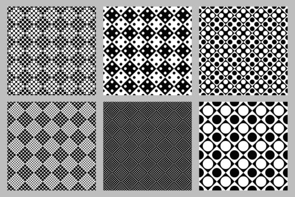 Download Free 6 Seamless Black And White Dot Patterns Graphic By Davidzydd for Cricut Explore, Silhouette and other cutting machines.
