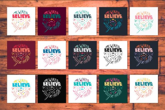 Download Free Always Believe In The Impossible Graphic By Barsrsind Creative for Cricut Explore, Silhouette and other cutting machines.