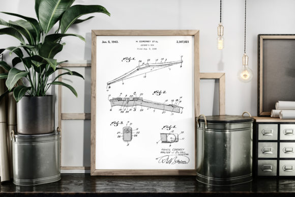 Download Free Banjo 1903 Vintage Patent Poster Drawing Graphic By Antique SVG Cut Files