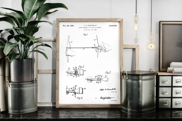 Print on Demand: Arrow Release for Bow 1961 Patent Image Graphic Illustrations By Antique Pixls