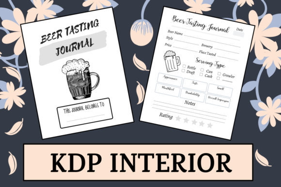 Print on Demand: Beer Tasting Journal   KDP Interior Graphic KDP Interiors By Hungry Puppy Studio