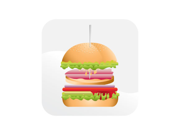 Download Free Big Burger Icon Graphic By Samagata Creative Fabrica for Cricut Explore, Silhouette and other cutting machines.