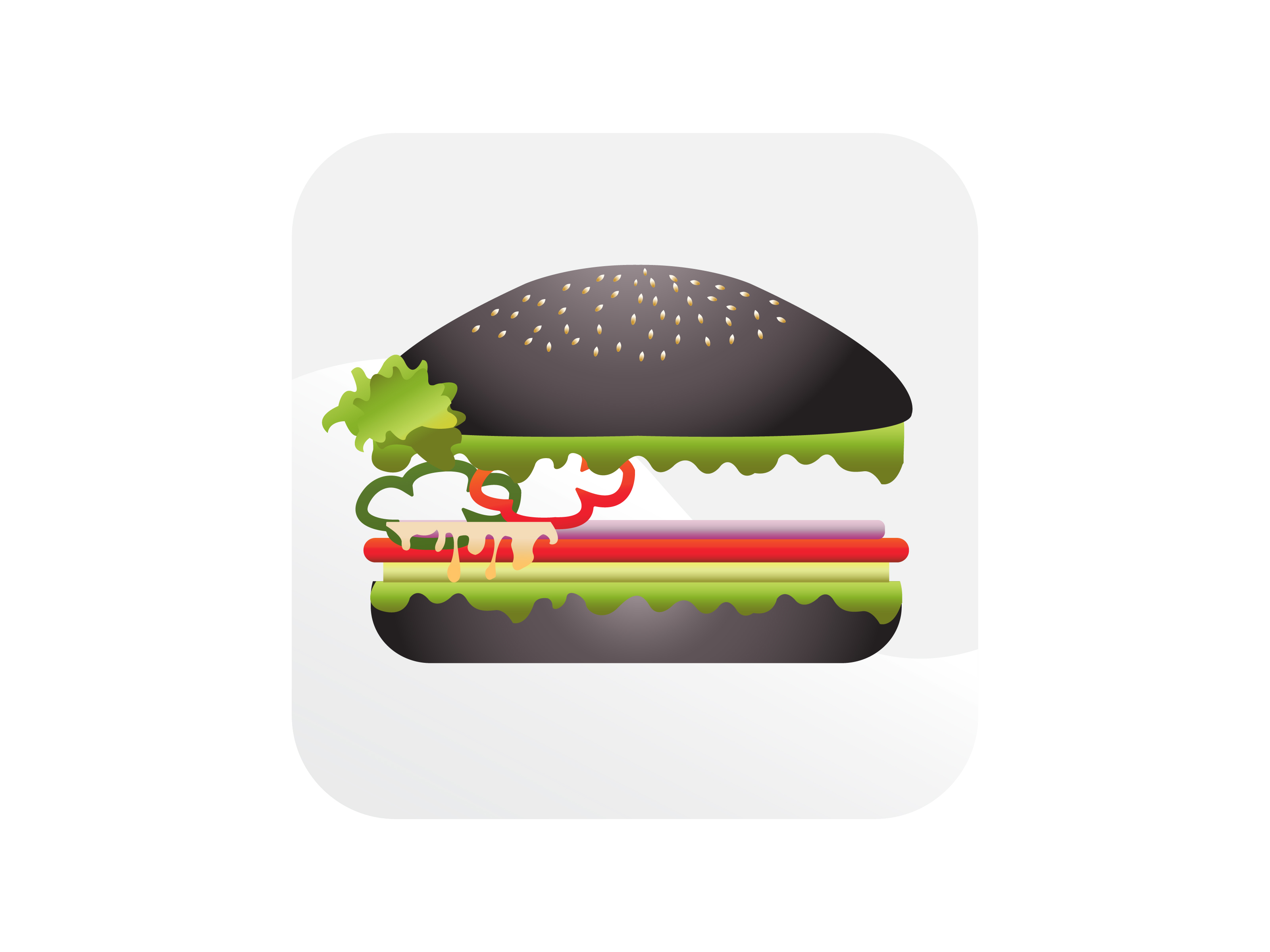Download Free Black Cheeseburger Icon Graphic By Samagata Creative Fabrica for Cricut Explore, Silhouette and other cutting machines.