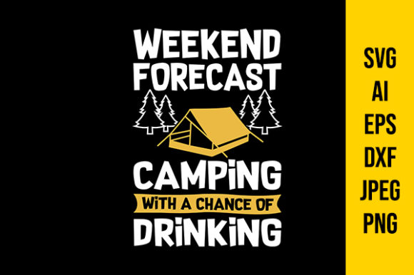 Print on Demand: Camping Quotes Graphic Crafts By Tosca Digital