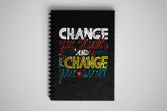 Download Free Change Your Thoughts Graphic By Barsrsind Creative Fabrica for Cricut Explore, Silhouette and other cutting machines.