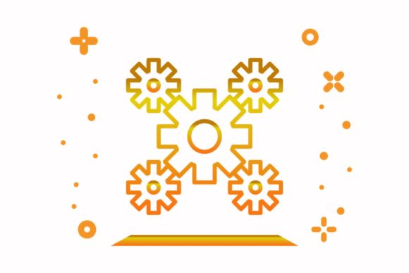 Download Free 2 Gear Wheels Designs Graphics for Cricut Explore, Silhouette and other cutting machines.