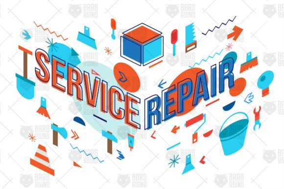 Construction And Repair Concept Graphic By Barsrsind Creative