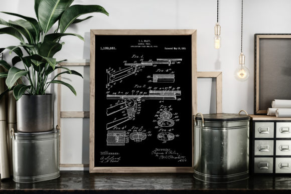 Dental Tray Patent Drawing Art Prints Graphic By Antique Pixls