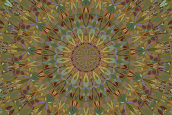 Floral Mandala Background Graphic Backgrounds By davidzydd