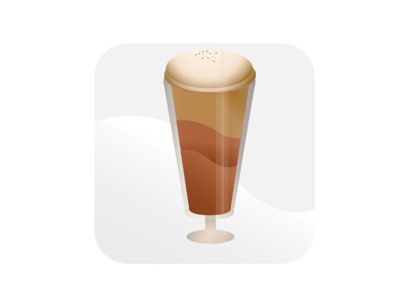 Download Free Frappe Icon Graphic By Samagata Creative Fabrica for Cricut Explore, Silhouette and other cutting machines.