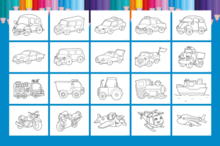 Print on Demand: Happy Coloring Book 10 - Transportation Graphic Coloring Pages & Books Kids By Momentos Crafter 2