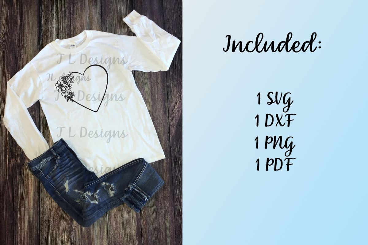 Download Free Heart Floral Graphic By Jl Designs Creative Fabrica for Cricut Explore, Silhouette and other cutting machines.