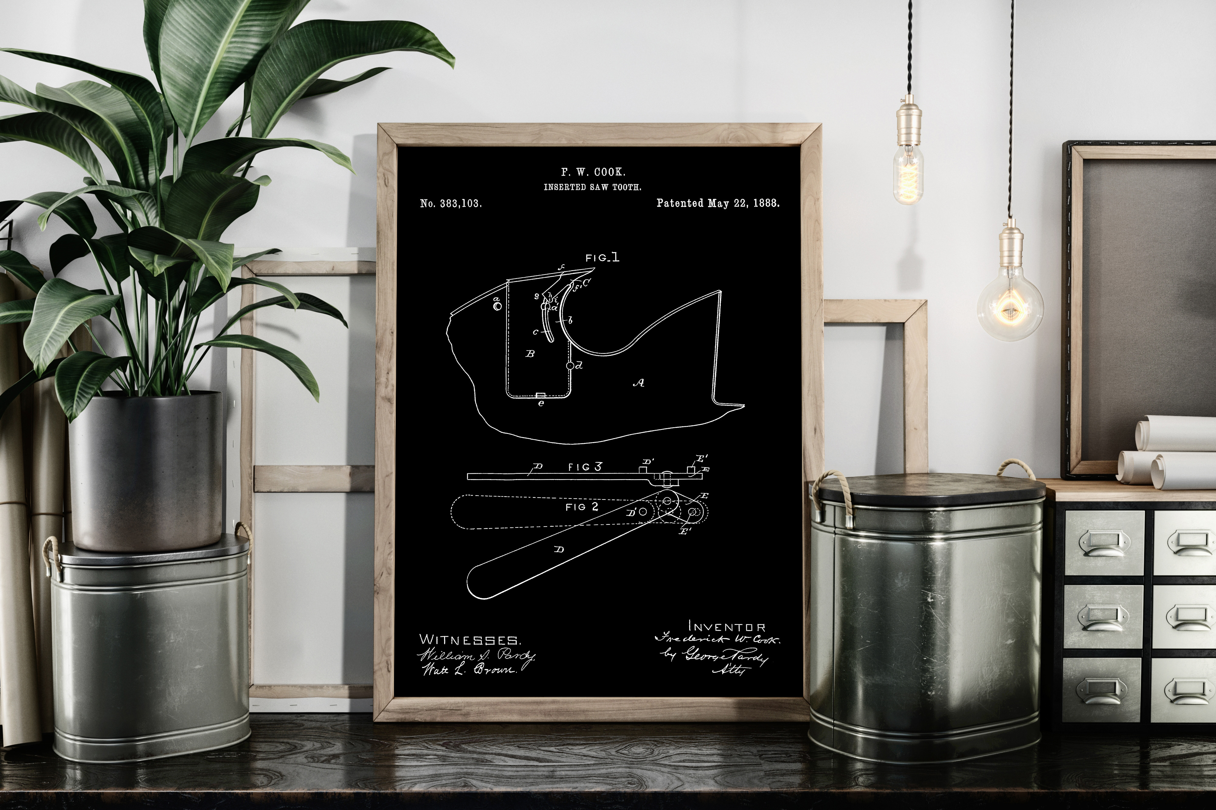 Download Free Inserted Saw Tooth Patent Art Poster Graphic By Antique Pixls for Cricut Explore, Silhouette and other cutting machines.
