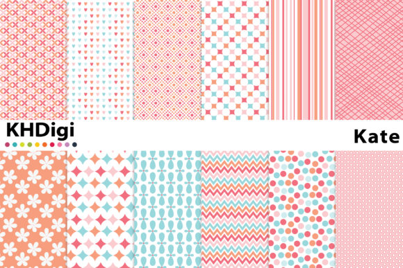 Download Free Sweet Day Digital Paper Graphic By Khdigi Creative Fabrica for Cricut Explore, Silhouette and other cutting machines.